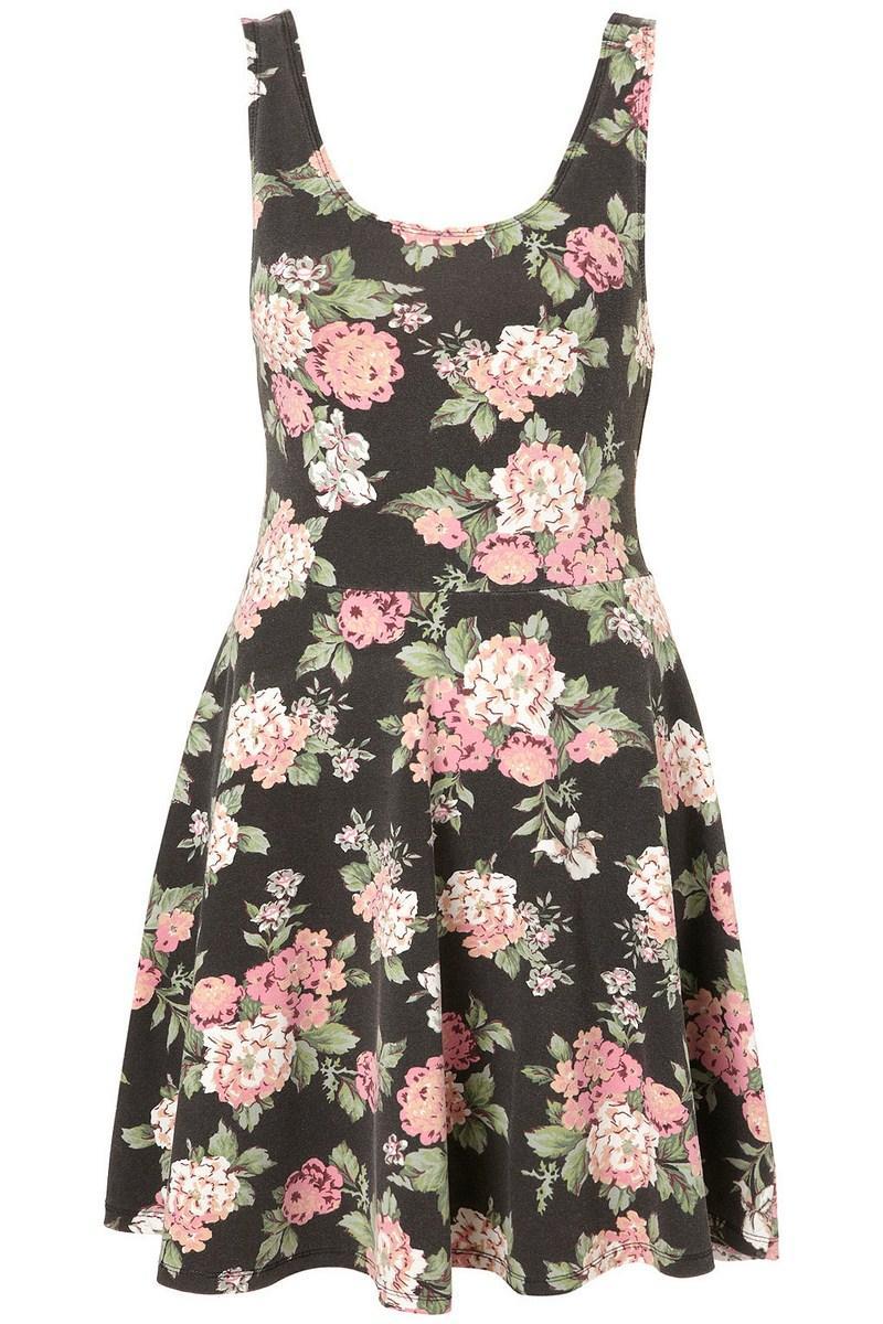 6c3727db41 czarna sukienka Topshop w łączkę - z kolekcji wiosna-lato 2012 ...