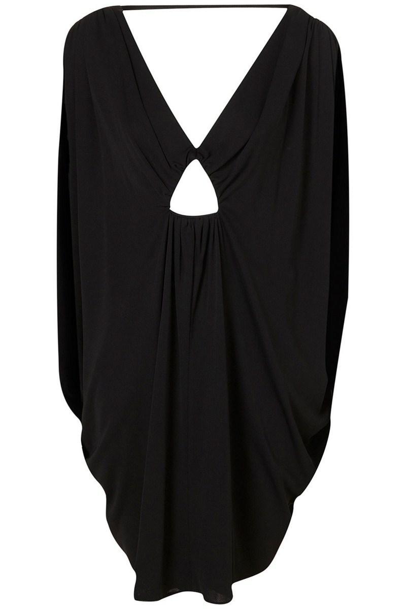 9e9dfff251 czarna tunika Topshop luźna - z kolekcji wiosna-lato 2012 - Sukienki ...