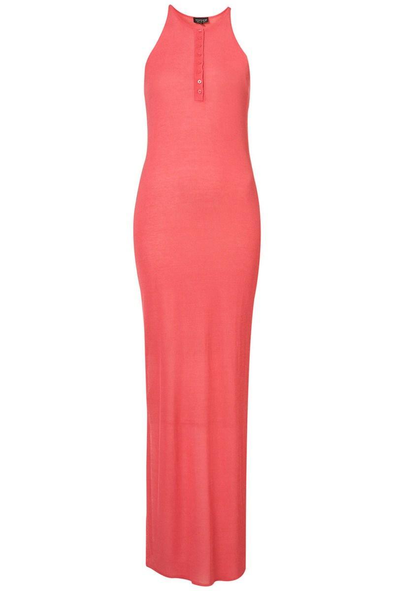 50336f6904 Sukienki Topshop na sezon wiosna lato 2012. różowa sukienka Topshop długa  ...