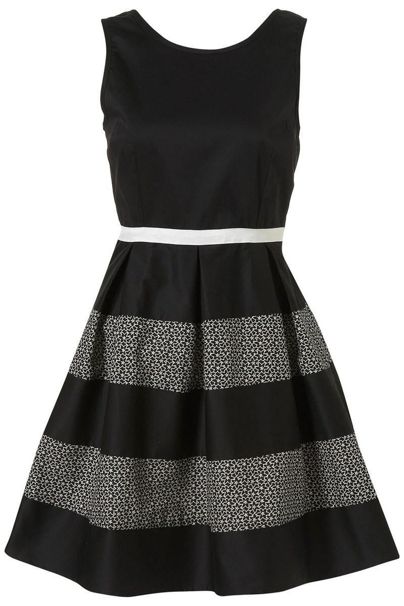 1076975c2a czarna sukienka Topshop w paski - wiosna-lato 2012 - Sukienki ...