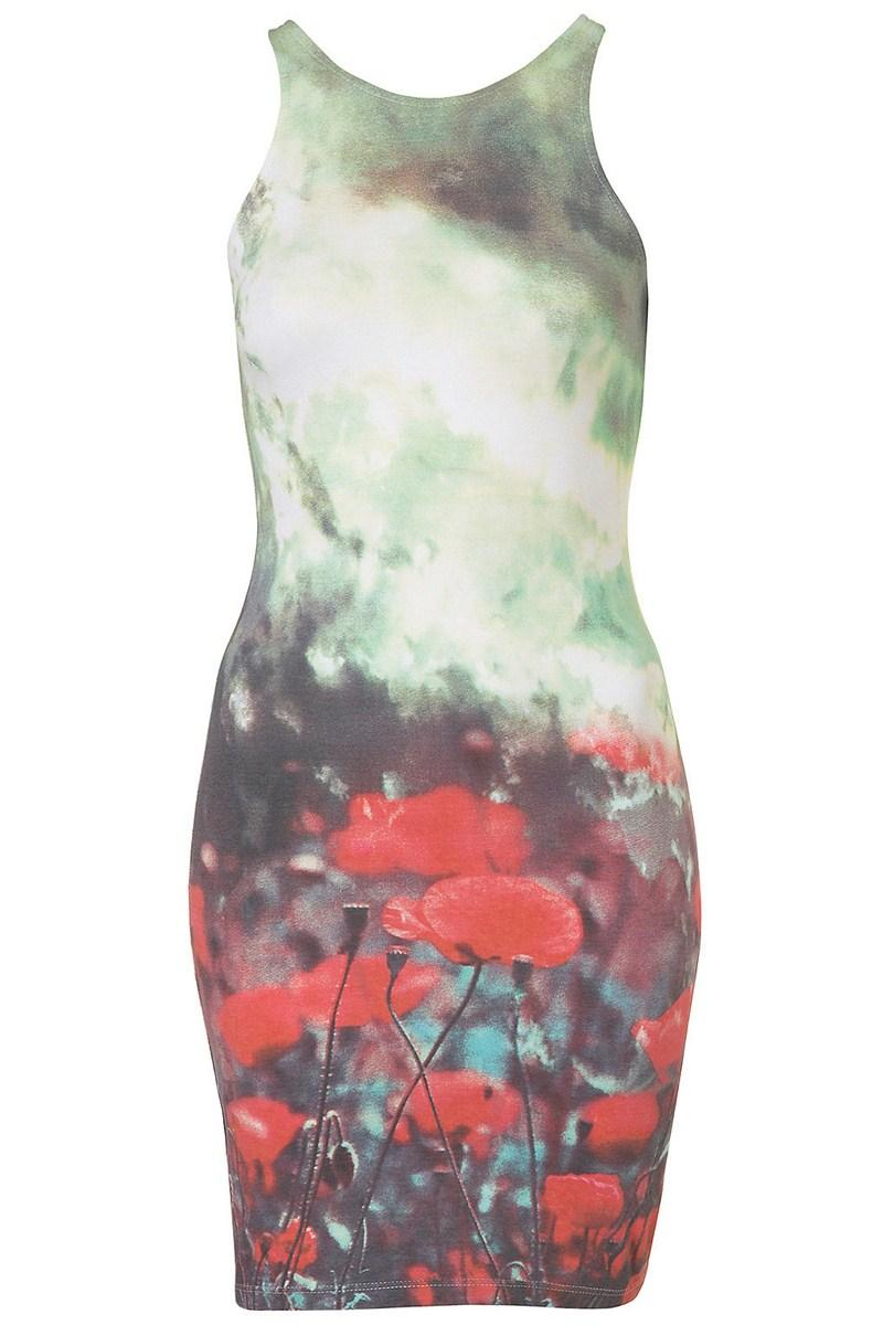 c0cf4a0c62 kolorowa sukienka Topshop w łączkę - z kolekcji wiosna-lato 2012 ...