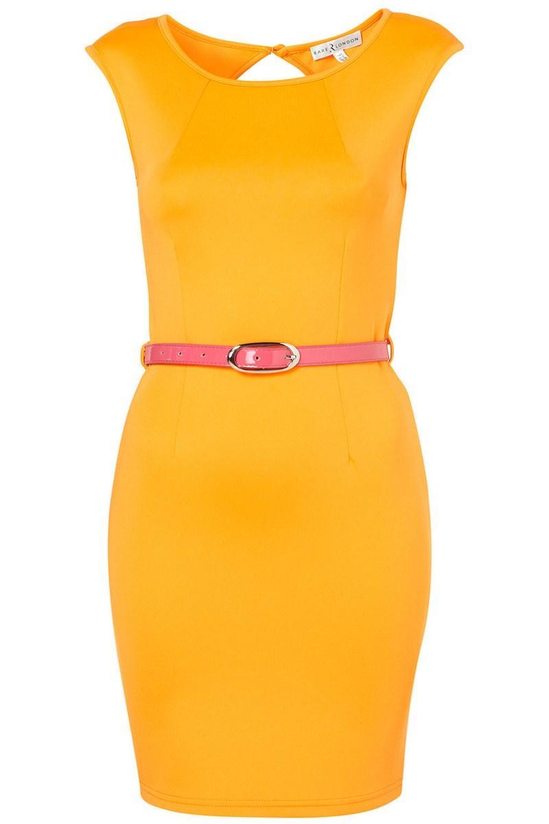 48acea132b żółta sukienka Topshop z paskiem - z kolekcji wiosna-lato 2012 ...