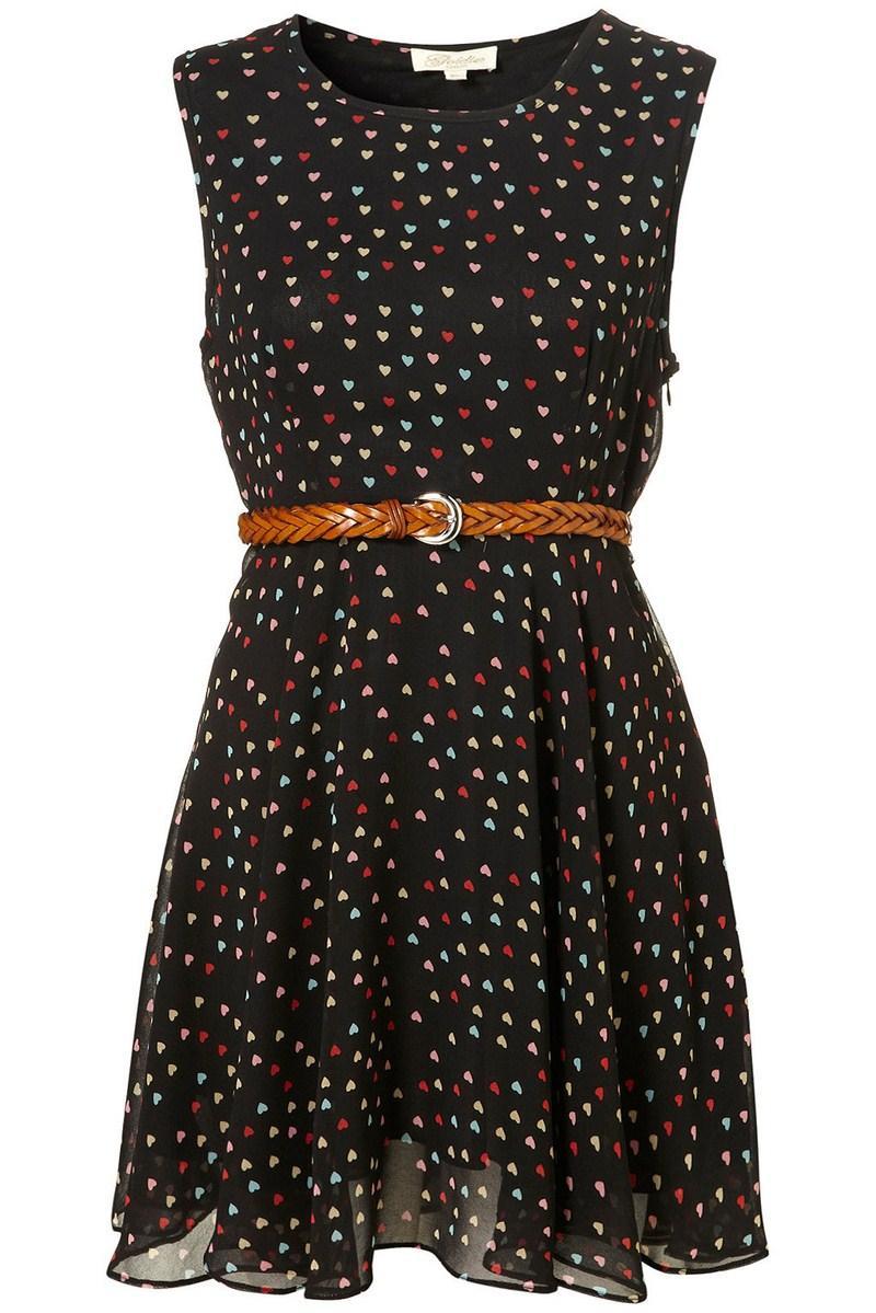 bfaa80e7c3 czarna sukienka Topshop w groszki - z kolekcji wiosna-lato 2012 ...