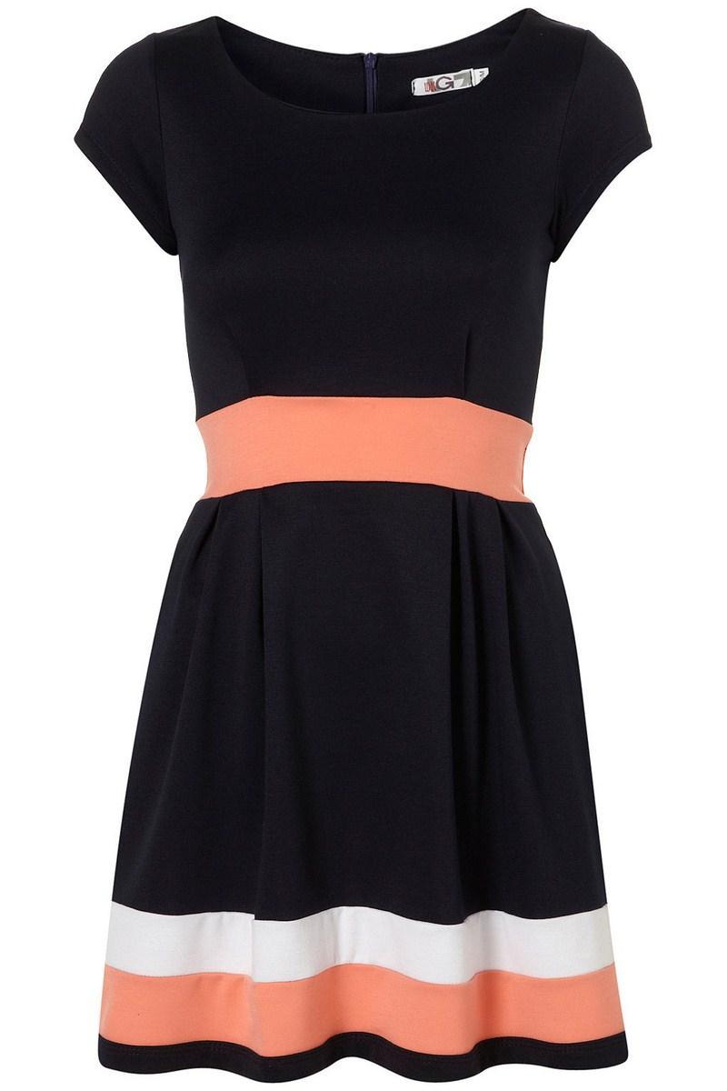 db17b04c21 czarna sukienka Topshop w paski - z kolekcji wiosna-lato 2012 ...