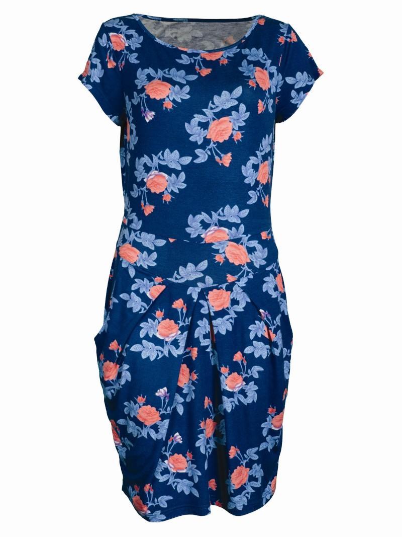 niebieska sukienka Troll w kwiaty - wiosna-lato 2011