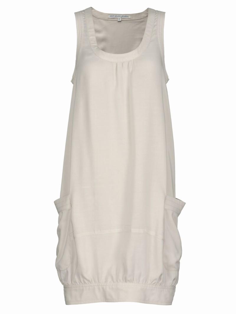 biała sukienka Troll z kieszeniami - lato 2011