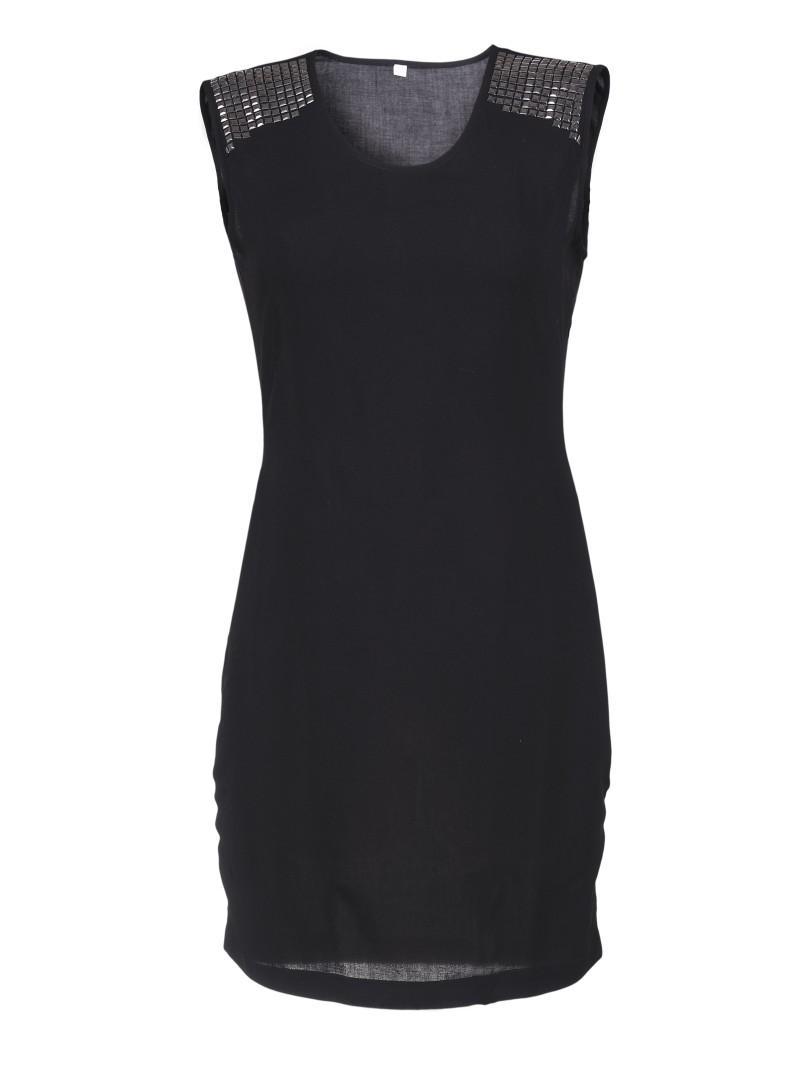 czarna sukienka Troll - moda wiosna/lato
