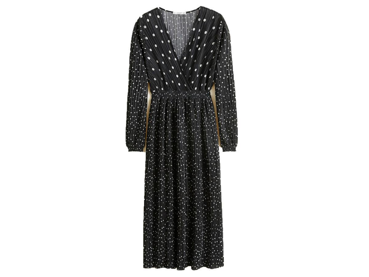 Plisowana sukienka w groszki, Mango, cena ok. 269,90 zł