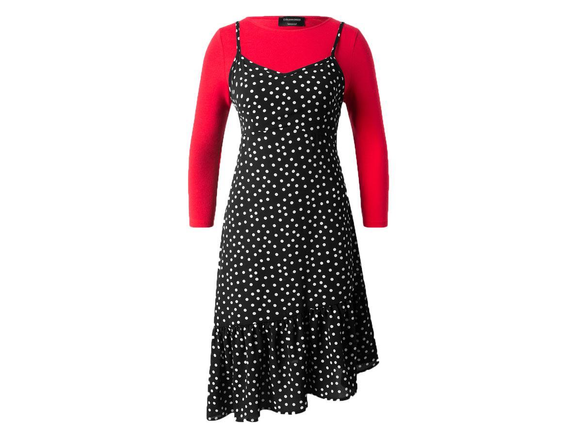 Sukienka w grochy C&A, cena ok. 45,90 zł