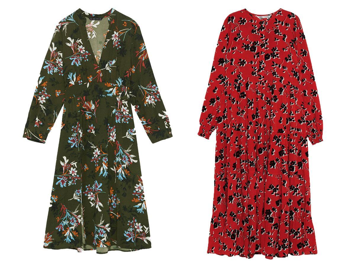Sukienki w kwiaty z Zary