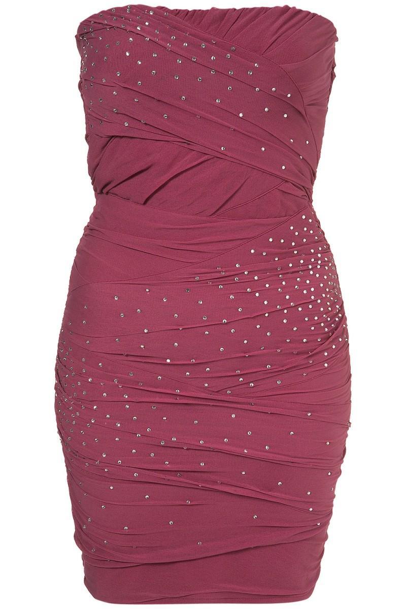 różowa sukienka wieczorowa Topshop