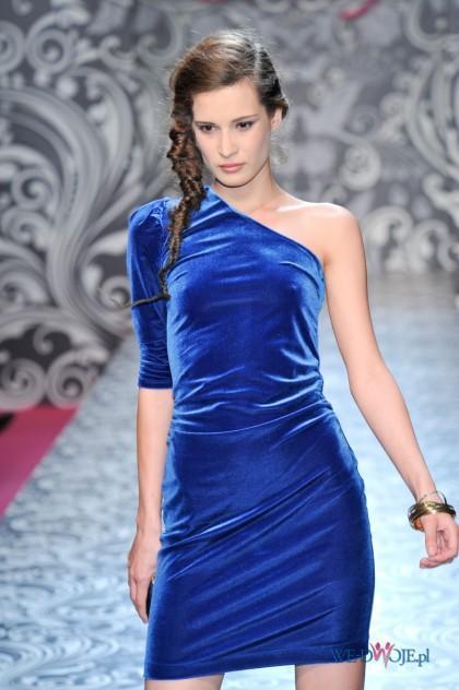 niebieska sukienka wieczorowa Orsay