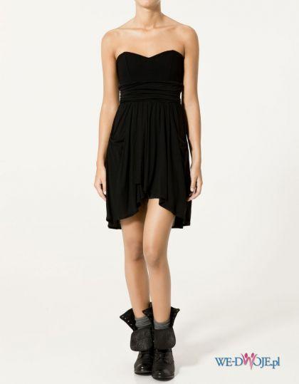 czarna sukienka wieczorowa ZARA