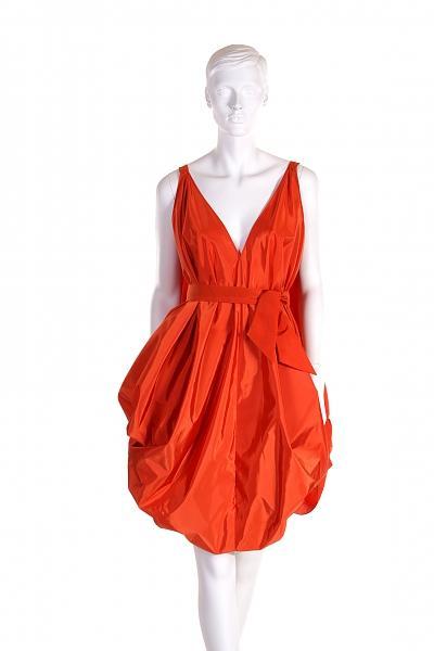 czerwona sukienka wieczorowa Viola Śpiechowicz