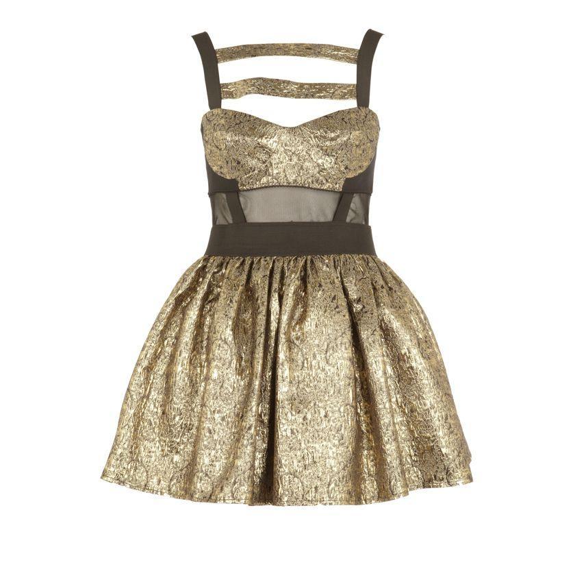 złota sukienka wieczorowa River Island