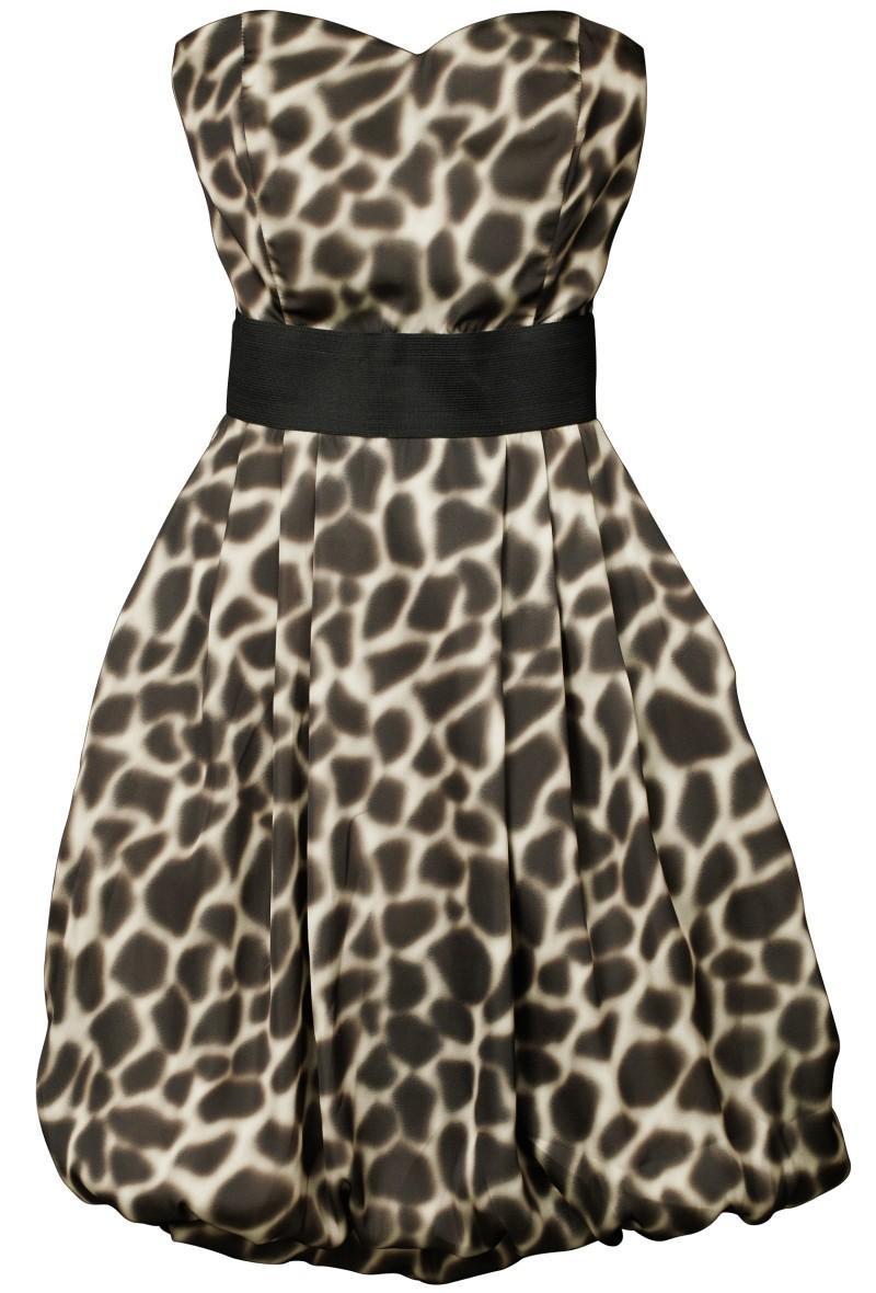 sukienka wieczorowa H&M w panterkę