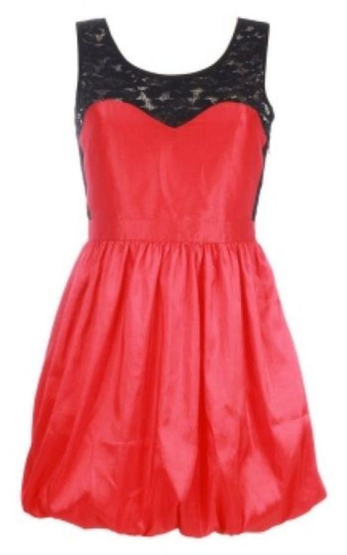 czerwona sukienka wieczorowa Szafomania