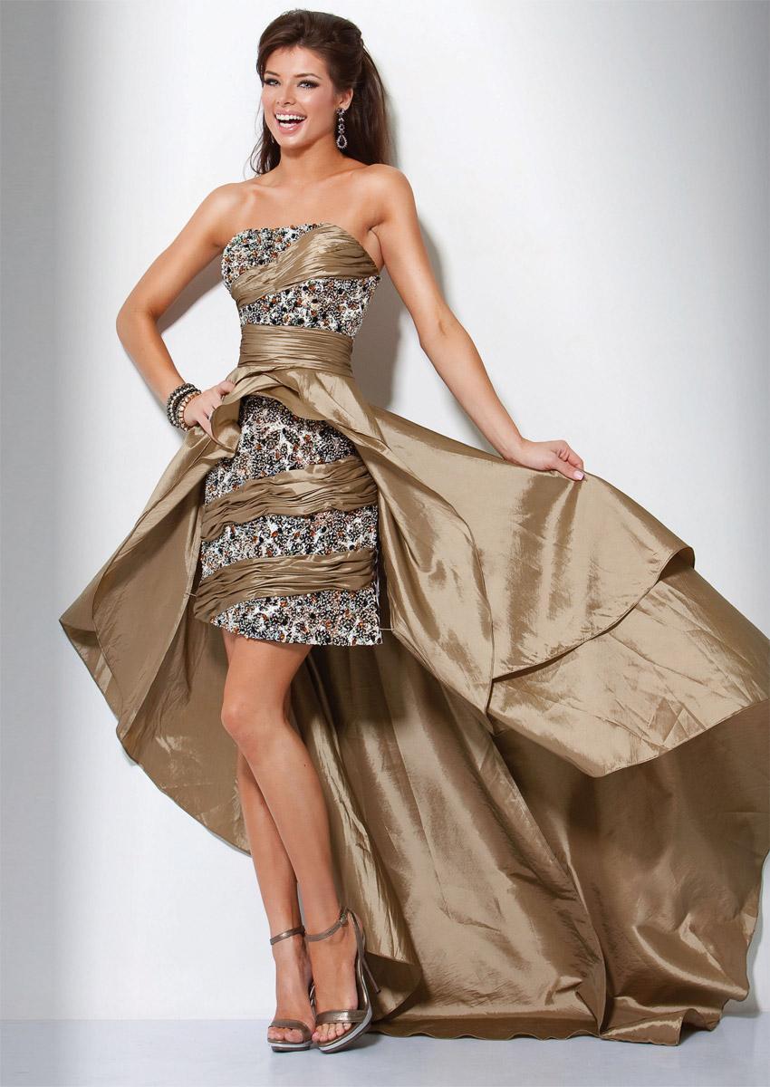 złota sukienka wieczorowa Evita