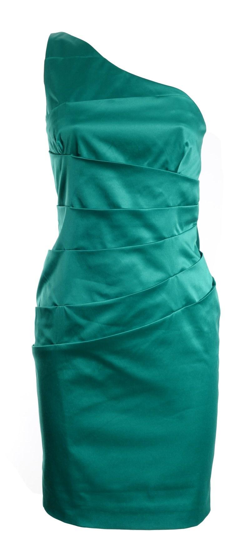 drapowana zielona sukienka Simple - jesień/zima 2010/2011
