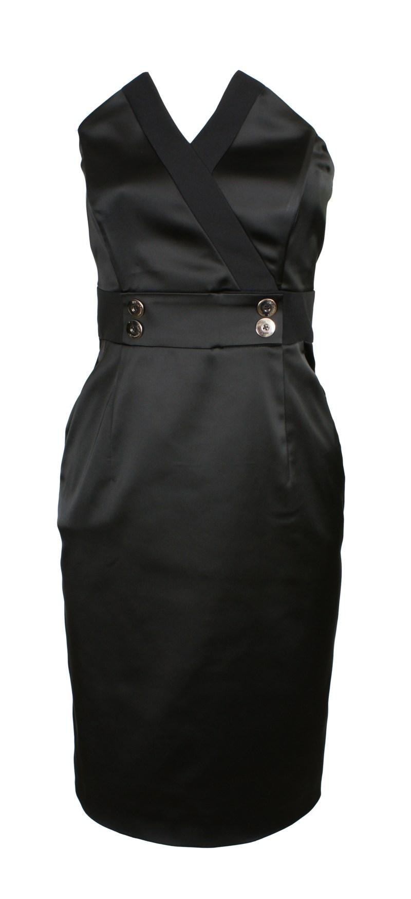 czarna sukienka odcinana pod biustem Simple - jesień/zima 2010/2011