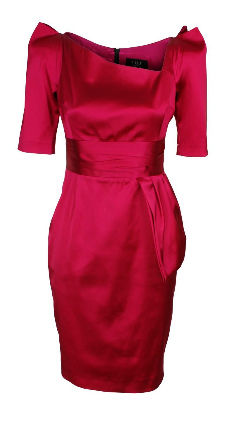 czerwona sukienka od Simple - jesień/zima 2010/2011