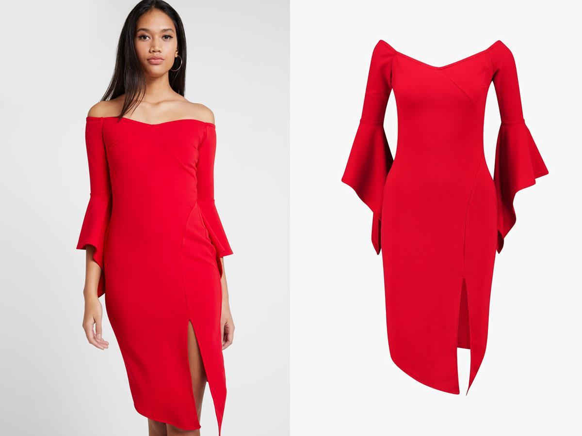 Czerwona sukienka wizytowa, Sista glam (zalando.pl), cena ok. 439,00 zł