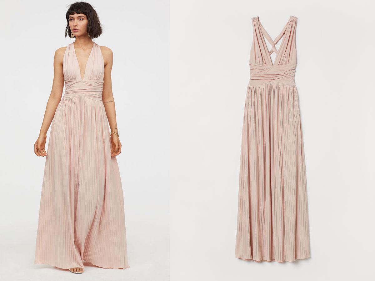 c3abfa70b9 Długa sukienka plisowana