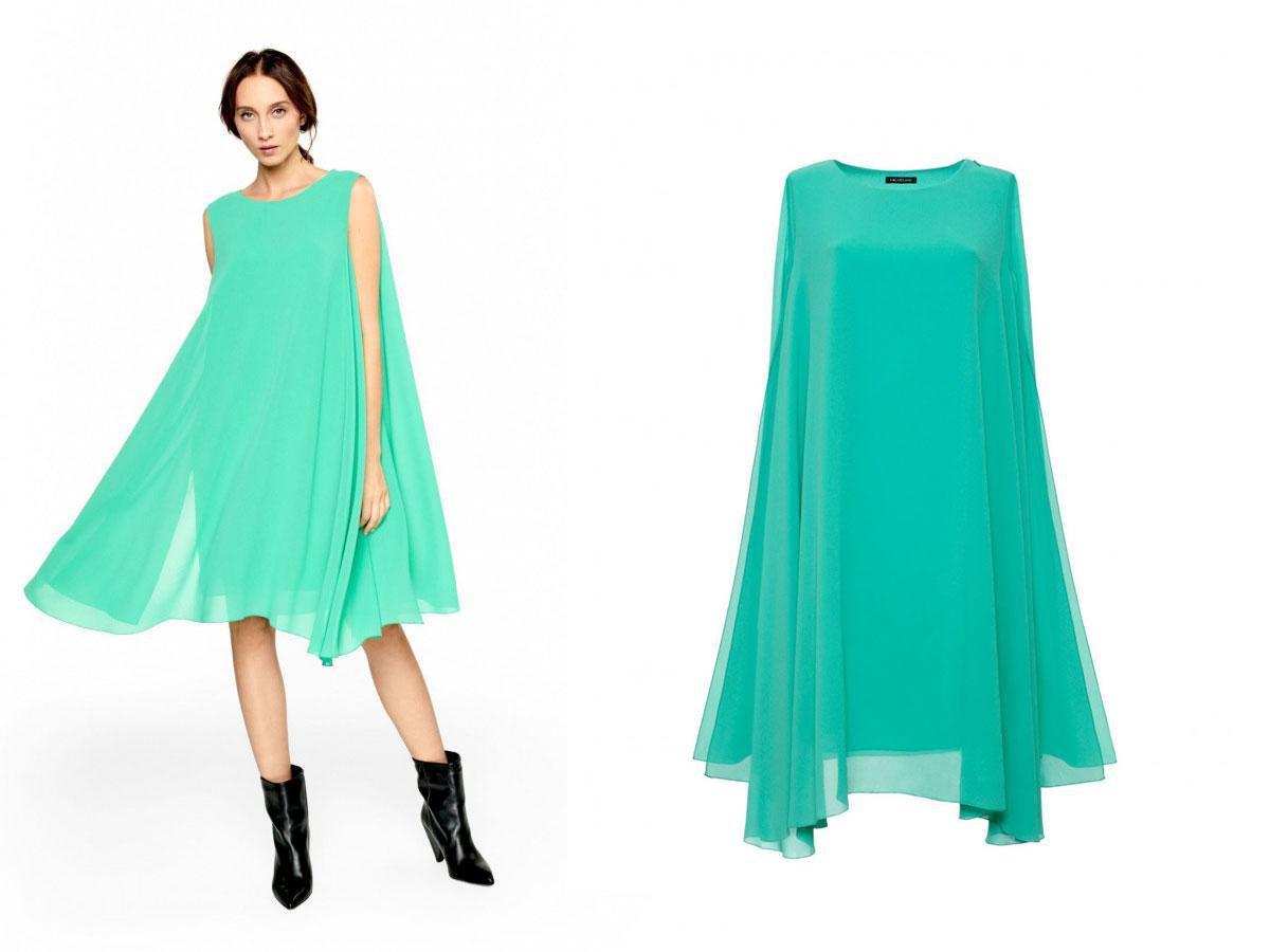 Zwiewna sukienka w kolorze zielonym, Hexeline, cena ok. 875,00 zł