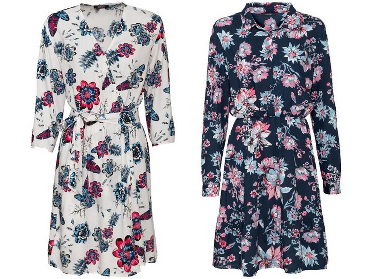 sukienki w kwiaty Esmara do kupienia w Lidlu