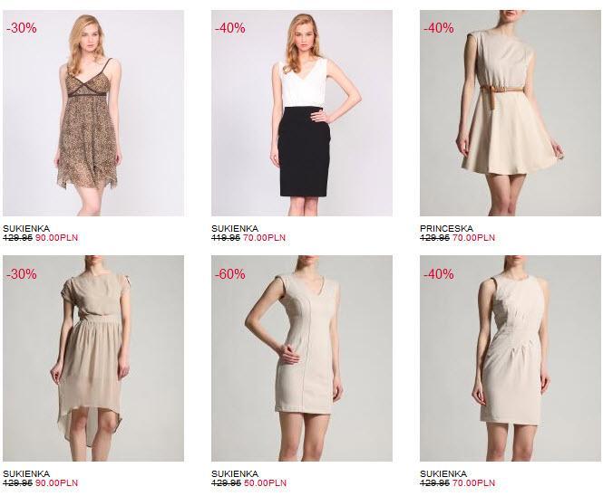 Sukienki z wyprzedaży w sieci