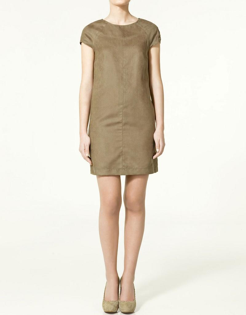 beżowa sukienka ZARA - trendy wiosna-lato