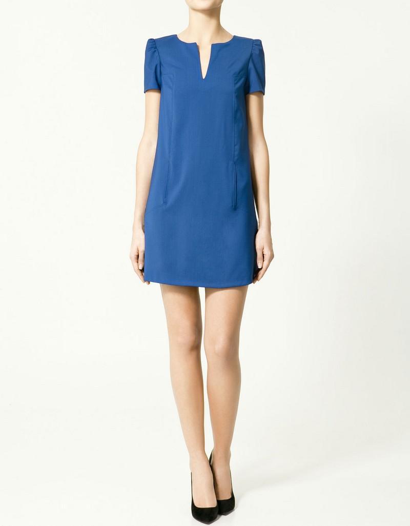 niebieska sukienka ZARA - trendy wiosna-lato