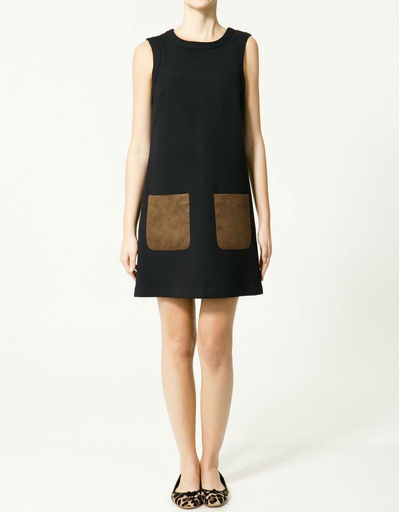 czarna sukienka ZARA - moda wiosna/lato