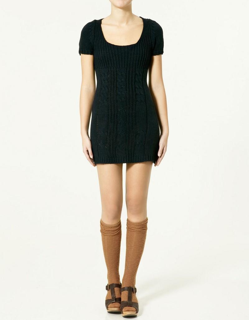 czarna sukienka ZARA - wiosna-lato 2011
