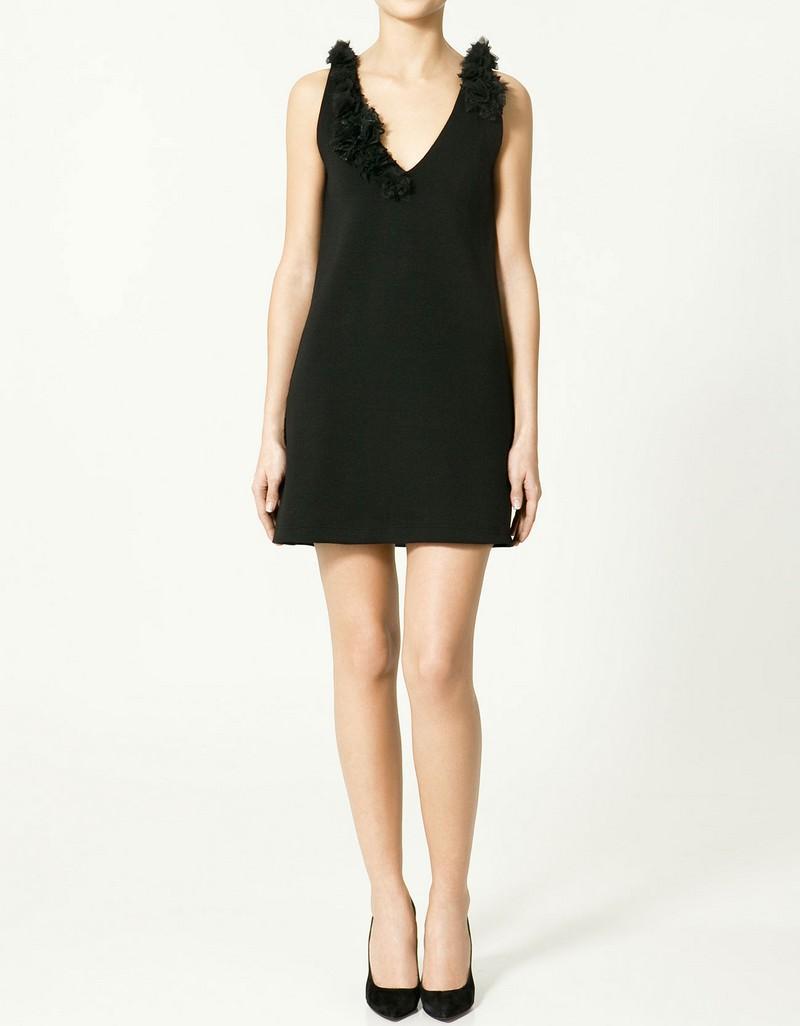 czarna sukienka ZARA - wiosna/lato 2011