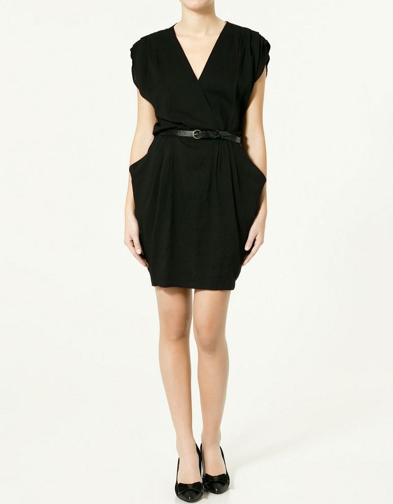 czarna sukienka ZARA - z kolekcji wiosna-lato 2011