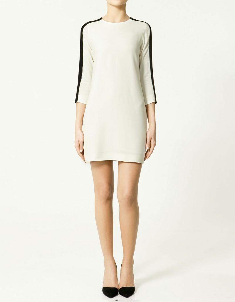 biała sukienka ZARA - lato 2011