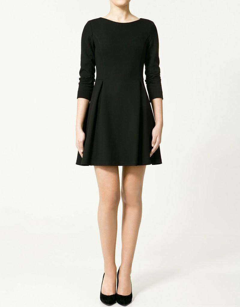 czarna sukienka ZARA - trendy wiosna-lato