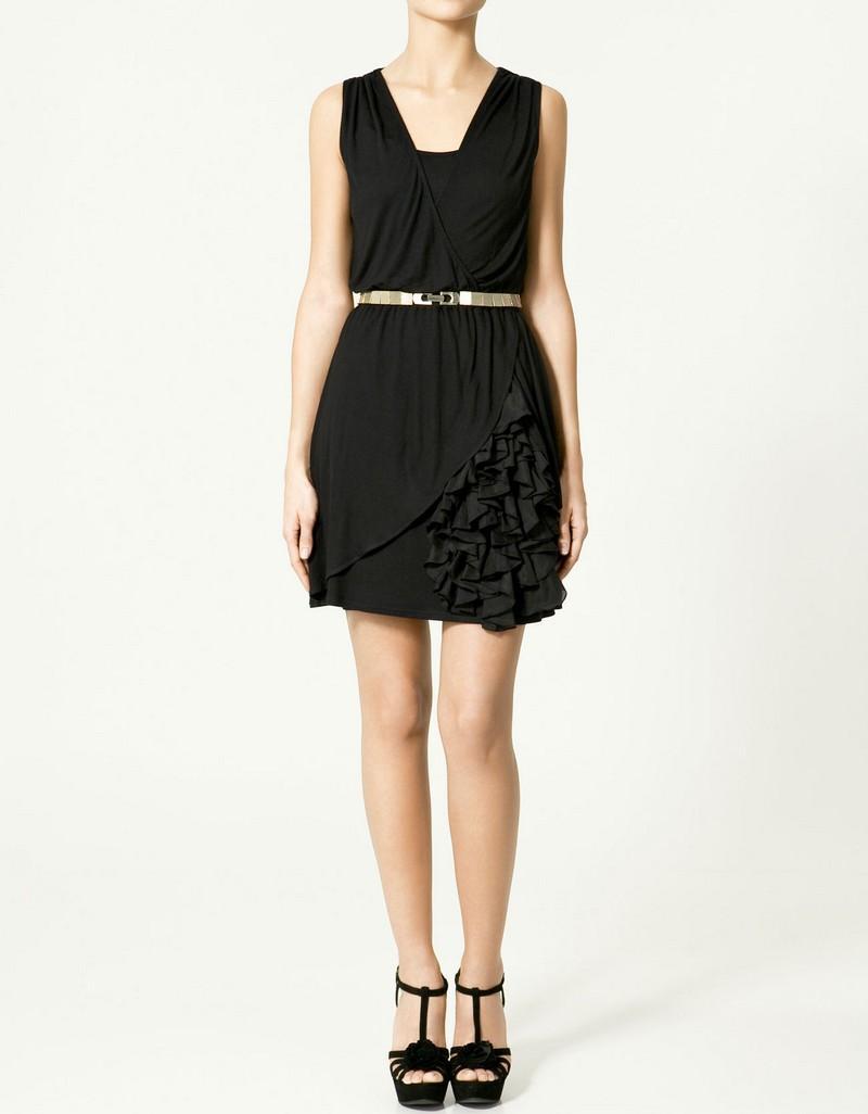 czarna sukienka ZARA - kolekcja wiosenno/letnia