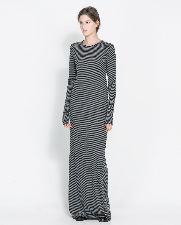 b5f0fec765 długa sukienka ZARA - moda na jesień 2013 - Sukienki Zara na jesień ...
