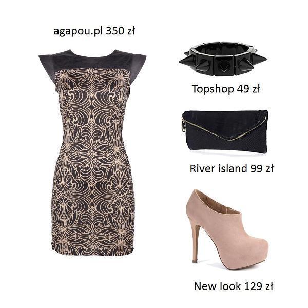 Sukienki ze skórzanym motywem - stylizacje