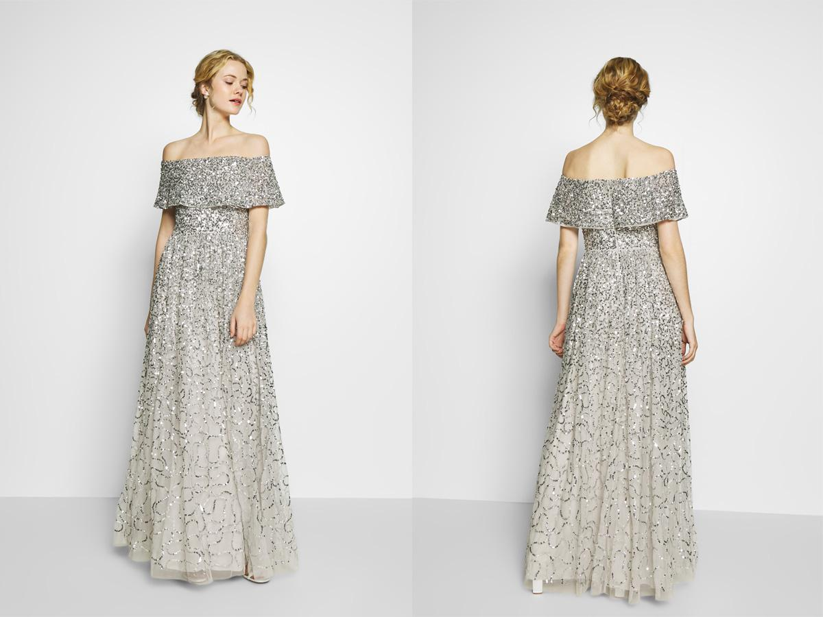 Suknia ślubna cekinowa