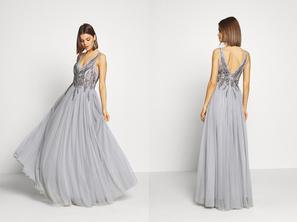 Suknia ślubna szara