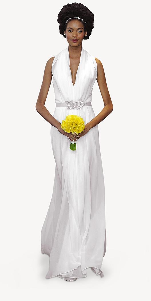 suknia ślubna Carolina Herrera z paskiem