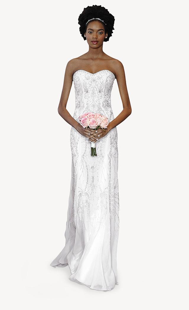 suknia ślubna Carolina Herrera wyszywana