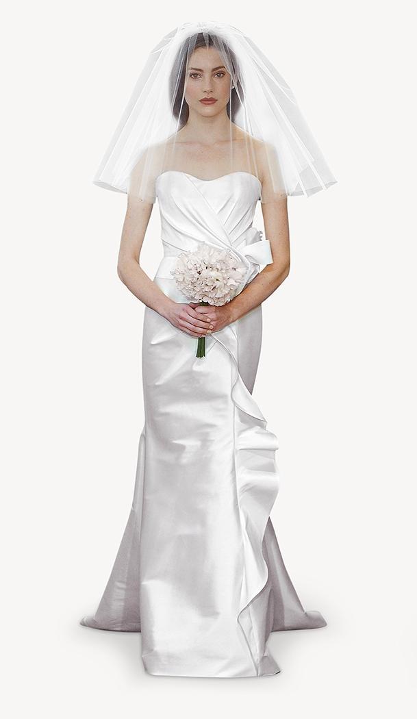 suknia ślubna Carolina Herrera z falbanką