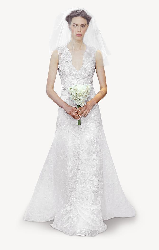 suknia ślubna Carolina Herrera koronkowa