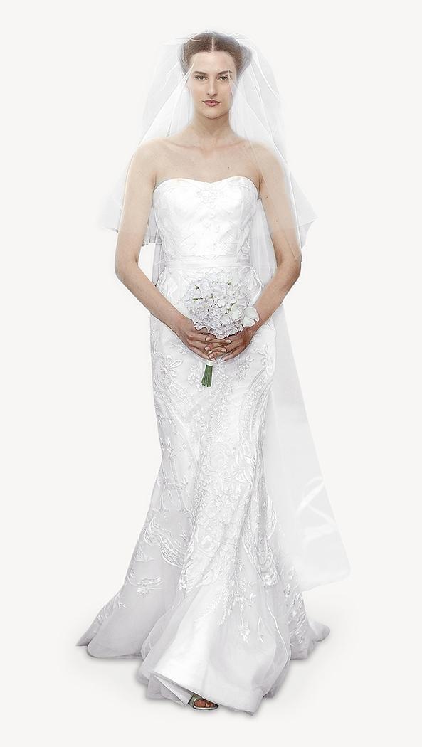 suknia ślubna Carolina Herrera z koronką
