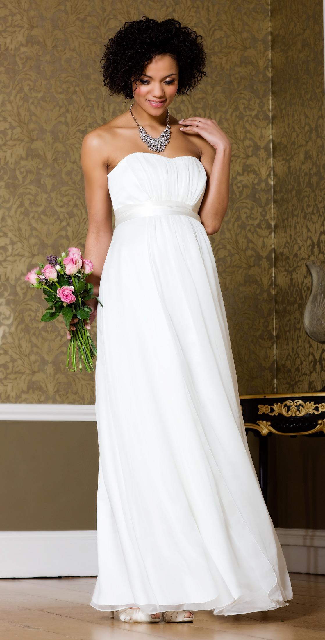 271096f707 Suknie ślubne dla kobiet w ciąży. biała suknia ślubna Tiffany Rose odcinana  pod biustem
