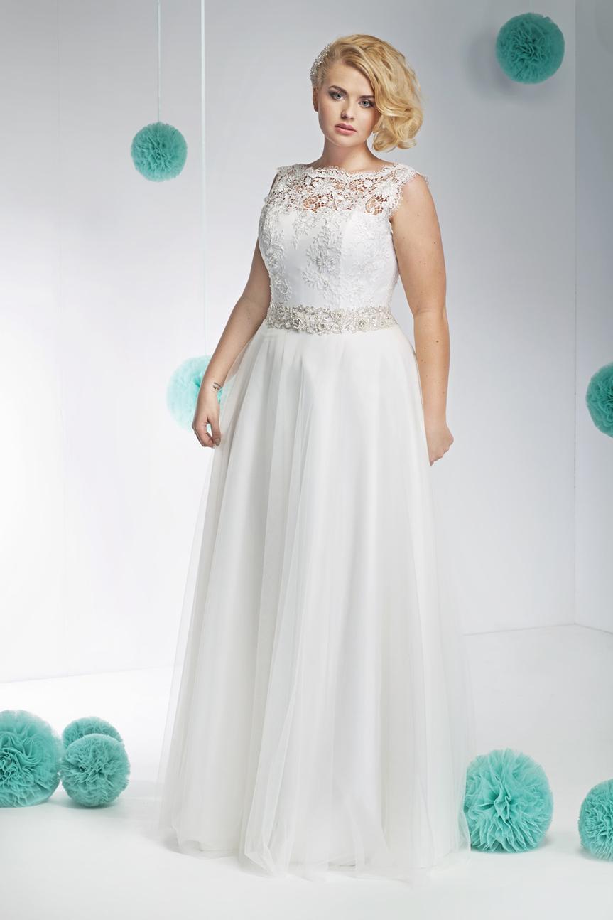da2fad68ae suknia ślubna Annais Bridal z koronką - Suknie ślubne dla puszystych ...